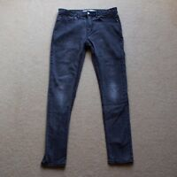 Grey Topman Stretch Skinny Denim Jeans (32R)