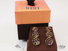 Nini Hale Royale Collection 18K Yellow Gold Circle Amethyst Earrings, Ret: $7700