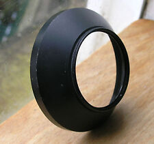 49mm Metal screw in Wide Angle  lens hood 75mm diameter  21mm deep