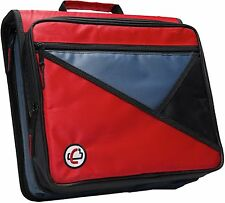 Case-it Universal 2-Inch 3-Ring Zipper Binder, Holds 13 Inch Laptop, Red, Lt-.
