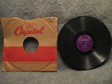 """78 RPM 10"""" Record Ray Anthony My Concerto & I'll Remember April Capitol 1835"""