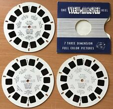 Vintage 50s,60s,Viewmaster Reels x 3,Gulliver'S Travels,3741/3742/3743.Ra re.