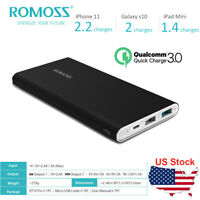 ROMOSS 18W QC3.0 Power Bank 10000mAh Dual USB Portable Charger for Mobile Phone