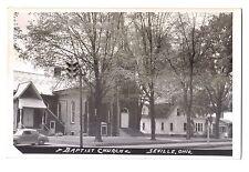 Ohio real photo postcard Seville Baptist Church