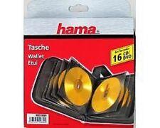 Hama CD DVD  Wallet Holder Case for 16 Disks -  011664 Reduced