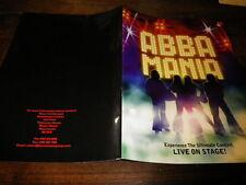 ABBA MANIA - Plan média / Press kit !!! LIVE ON STAGE!!!