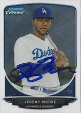 Jeremy Moore Los Angeles Dodgers 2013 Bowman Chrome Signed Card