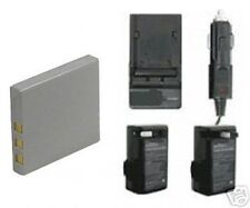 Battery + Charger for Sanyo VPC-E760GL VPC-E760P