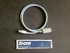 Supra lorad MkII  Netzkabel 1,0m  (WEISS) BAS Mk III