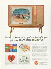 """1961 RCA Victor Color TV Television """"The Chalfont"""" PRINT AD"""