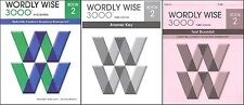 Wordly Wise 3000 Grade 2 SET -- Student, Key, and Tests NEW  *3rd edition*