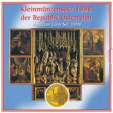 Österreich KMS 1998 10 Groschen - 20 Schilling hgh im Folder (Folder - lesen)