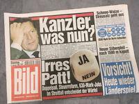 Bildzeitung vom 09.02.1999 * 19. 20. Geburtstag Geschenk * Kanzler Schröder