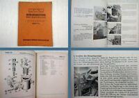 MWM KDW 715 Diesel Bedienungsanleitung & Ersatzteilliste 1954