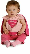 Supergirl Newborn 0-6 Months Costume Bib and Cape