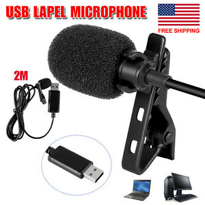 7F04 Clip-On Lapel Mini Lavalier Condenser Wired Microphone MIC For SmartPhones
