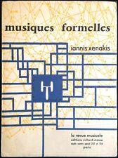 Iannis XENAKIS (Composer): Musique Formelles - Inscribed Presentation Copy