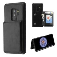 Samsung GALAXY S9 / Plus Slim Hybrid Credit Card Wallet Leather Case Hard Cover