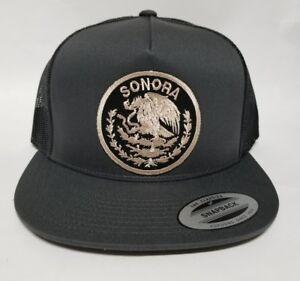 SONORA    MEXICO HAT MESH TRUCKER DARK GREY  SNAP BACK ADJUSTABLE  NEW