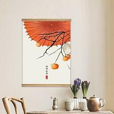 "wall26 - Hanging Poster Frames - Chinese Ink Painting of Persimmons- 18""x24"""