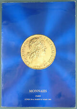 CATALOGUE VENTE ENCHERES - DROUOT : NUMISMATIQUE MONNAIES ANCIENNES COLLECTION