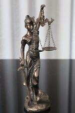 Justitia Figur Deko 25cm Bronze Göttin Recht Anwalt Rechtsanwalt Geschenk Notar