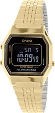 Casio Women's Illuminator Digital Gold Tone Stainless Steel Watch LA680WGA-1B