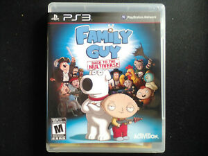 Family Guy PS3 Complete, Tested, Sanitized, Adult Owned, Free Shipping CAN