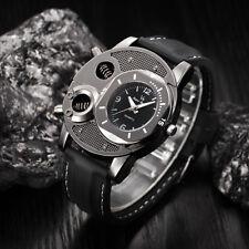 Fashion Men's Luxury Watch Skeleton Stainless Steel Quartz Analog Wrist Watches