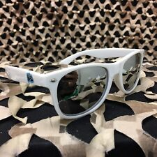 NEW KM Paintball Sunglasses - White w/ Mirror Lens