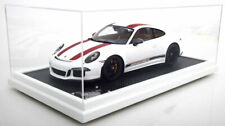 Spark 2016 Porsche 911 R (991) White w Display Dealer LE of 500 1/12 Scale New!