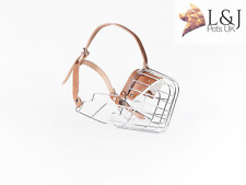 New Metal STRONG Giant Schnauzer Wire Basket Dog Muzzle