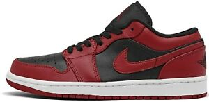 Air Jordan 1 Reverse Bred Low Varsity Red Black 553558-606