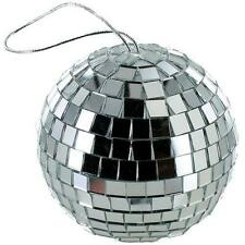 2 NEW 4 INCH SILVER MIRROR DISCO BALL party supplies reflection mirrors dj GLASS