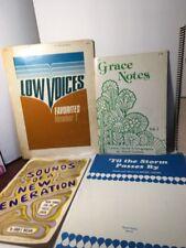 Lot of 28 Song Books Gospel Choir Treble Sacred Trios  Low Voice