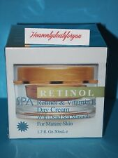 NIB Spa Cosmetics Spa Retinol & Vitamin E Day Cream w/Dead Sea Minerals, 1.7oz