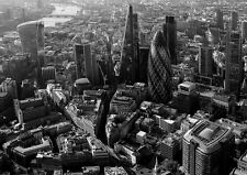 LONDON CITY SKYLINE URBAN SKYSCRAPERS Photo Wallpaper Wall Mural BLACK & WHITE
