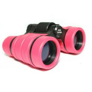 4x30 Binoculars  Children Pink Pocket Rubber Telescope For Kids Outdoor Game#SOH