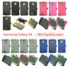 For Samsung Galaxy S4 Case Cover w/ (Belt Clip Fits Otterbox Defender) & Screen
