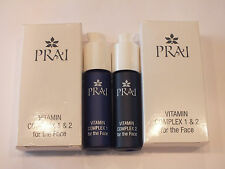 2 PRAI VITAMIN COMPLEX 1 & 2 FOR THE FACE ALL SKIN TYPES UNISEX - NEW IN BOX