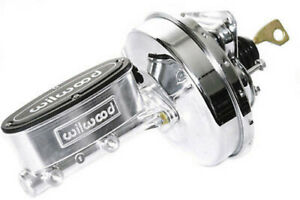 67-70 Ford Mustang Polished Wilwood Master Cylinder & Chrome Power Brake Booster