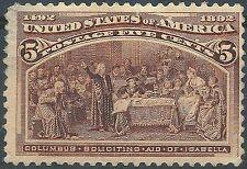 US 1893 Columbian Exposition Scott #234 Catalogue $160 MNH