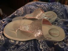 Skechers Walk And Work It Silver Sandals