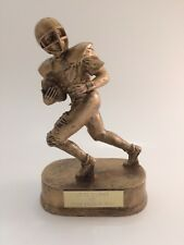 Gold Football Figure Resin Trophy! Free Engraving! Ships In 1 Business Day!