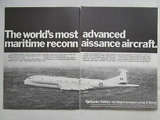 1/1970 PUB HAWKER SIDDELEY AVIATION NIMROD RAF MARITIME PATROL AIRCRAFT AD