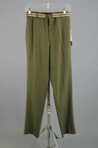 Men's NOS 1960s Tycoon Green Tapered Leg Slacks 29W 60s Vtg Pants