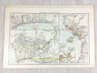 1898 Antik Map Of West Afrika Kolonien Sklave Coast Congo 19th Jahrhundert