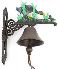 Cloche de jardin Paroi canard oie fonte fer eisenglocke cloche en métal ancien