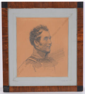 """Franz Krueger """"Portrait of Karl Friedrich Wilhelm Stein"""", drawing, 1835"""