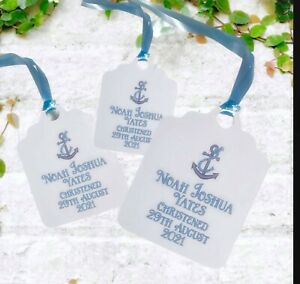 Personalised Gift Tags Favours Baptism birthdays Christening Wedding x10